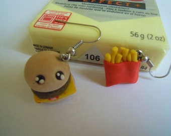 sandwich and chips earrings