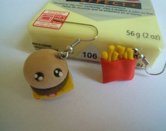 sandwich and chips earrings