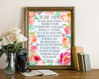 The Lord's Prayer, Our Faher's prayer, Christian prayer, Bible prayer, Bible prints, Bible printable, Bible printables, Scripture printables