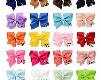 New 5 inch Hair Bow's pick your color