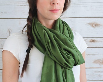 Fairtrade Olive Bamboo Scarves