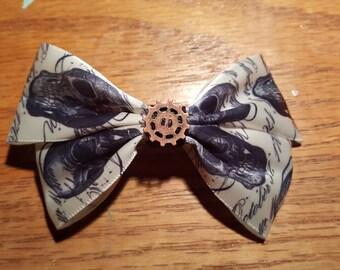 Skull Ribbon Bow