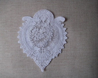 Lace Medallion Applique Off-White Doily Patchwork, Quilting, Home Decor, Clothes