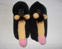Crochet Penis socks sexy gift bachelor groom knitted vagina boob breast funny adult vulva unisex winter warm cozy gift mature nacked sex