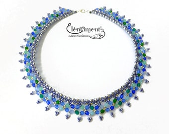 Summer treasures - elegant lacy necklace