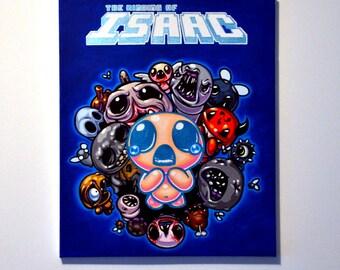 binding of isaac painting video game/peinture binding of isaac déco geek jeux vidéo