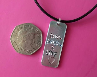 Live, laugh and love Necklace.