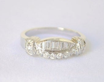 Vintage Platinum Diamond Band