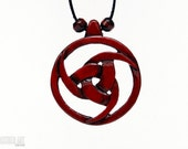 Viking Norse Jewelry - Triple Horn of Odin Necklace - Norse Mythology Pendant - Hand Carved Wood Pendant - Mystical Jewelry