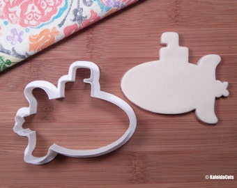 Submarine Cookie Cutter. Summer Cookie Cutter. Beach Cookie Cutter. Boat Cookie Cutter. Baking Gifts. Fondant Molds. Nautical Baby Shower.