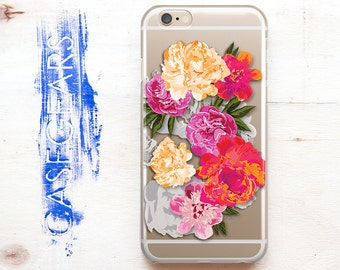 iPhone 6 Case Clear iPhone 6 Plus Phone Apple 6s Cover Floral 6s Plus iPhone Case 5s Phone Case Color iPhone 5 Case SE iPhone Cover CGCP0043