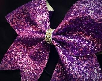Lilac Glitter Bow - FREE UK P&P