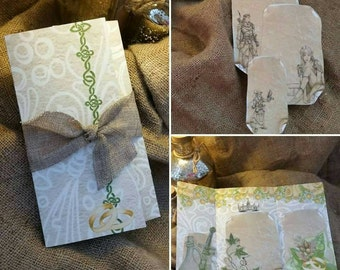 50 Lord of the rings inspired wedding invitations envelope fold