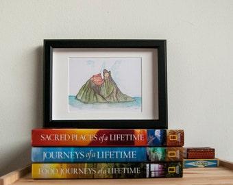 """Lava """"I Lava You"""", art print, from original watercolor, home decor"""