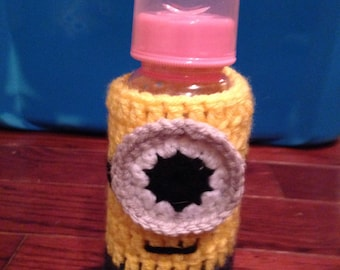 Minion bottle cozy