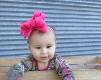 Hot Pink Loopy Bow
