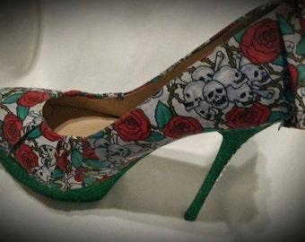 Skull design shoes