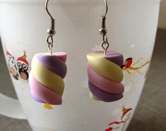 bonbon in fimo earrings