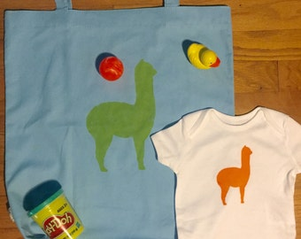 Bundle- DIY Llama Mama Tote Bag and Onesie