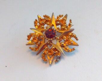 Vintage brooch, vintage pin, rhinestone brooch, vintage, wedding pin, bride, bridal, wedding jewelry, rhinestone pin, star pin, wedding