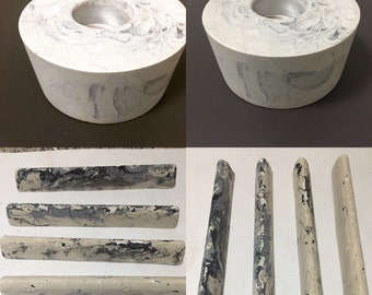 Marble effect candle holder & paper weights