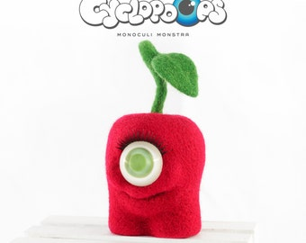 CyclopOops CHERRY // toy wool gift //