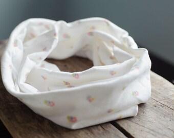 Organic Cotton Infinity Scarf w/ Custom Designed Fabric