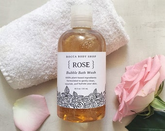 Bubble Bath & Body Wash 2-in-1 Foaming Bath and Body Cleanser, Rich Lather Spa Bath Gift for Her