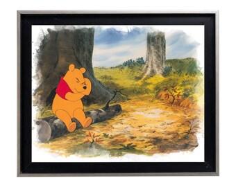 Winnie the Pooh cast Watercolor Art Print Matte Print Poster 16 x 20 Splatter