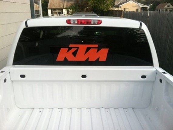 22 inch ktm motocross motor cycle window decal your choice