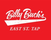 Billy Buck's East St. Tap Vintage Red T-shirt