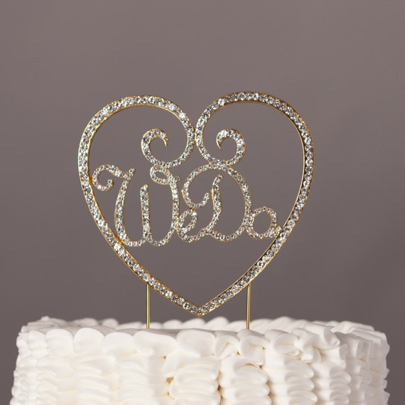 gold bling wedding cake topper we do wedding cake topper gold metal rhinestone 14748