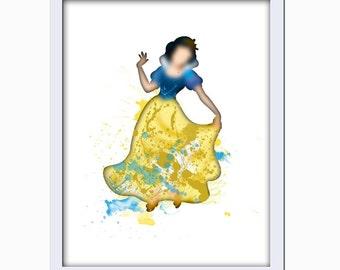 Instant Download Snow White Princess Disney Inspired Nursery Art Girls Bedroom Wall Art Home Decor Printable Art