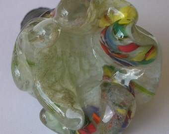 "Blown Glass Wine Bottle Stopper, ""Random Fleur"""