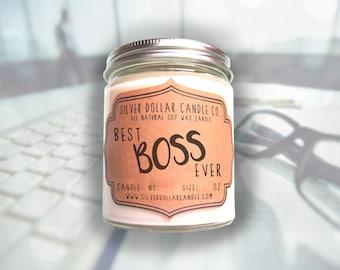 Boss Candle Gift, Gift for Boss | Best Boss Ever | boss gift, gift for her, manager gift, gifts for bosses, coworker gift, boss,entrepreneur