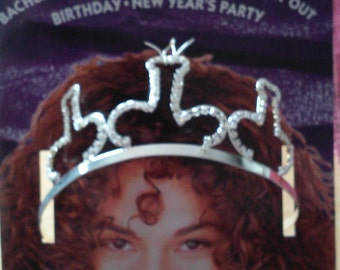 Rhinestone Pecker Tiara for women or men Unique Queen for a Day Bachelorette party
