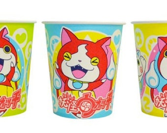 Made in Japan Yo-kai Watch set of 15 disposable paper cups new Party