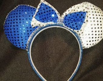 Blue and Silver Disney Inspired Ears