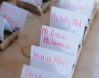 Place Cards - Wedding Place Cards, Modern Calligraphy Place Cards
