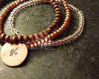 Initial Stretch Stack Bracelets