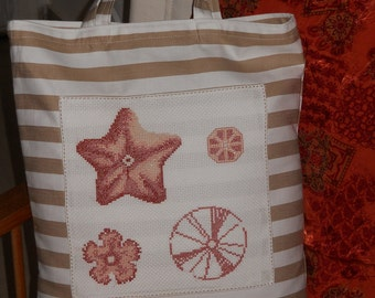 Beach bag with cotton.  tote bag