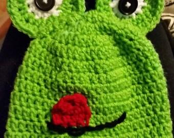 Frog children's Crocheted hat
