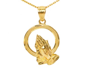 10k Yellow Gold Prayer Necklace