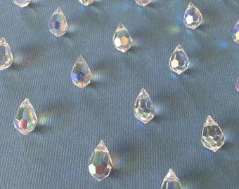 Swarovski crystal AB/20-piece drops Beads rhinestones
