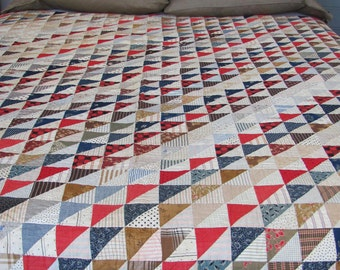 Flags and Triangles Antique Quilt