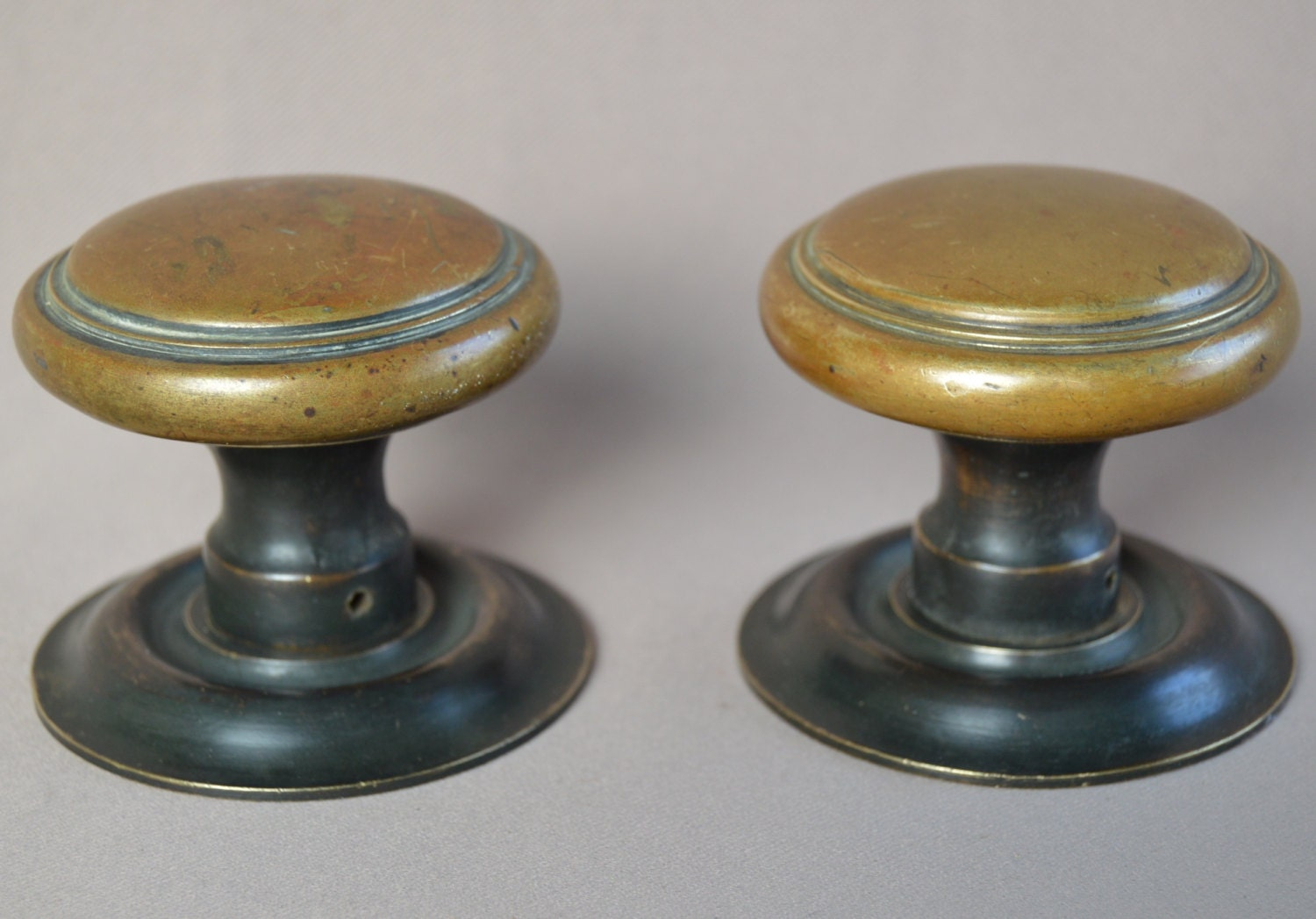 Antique french pair of bronze door handle knob 1920 39 s for 1920 door knobs