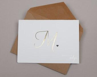Uppercase Monogram / Greeting Card
