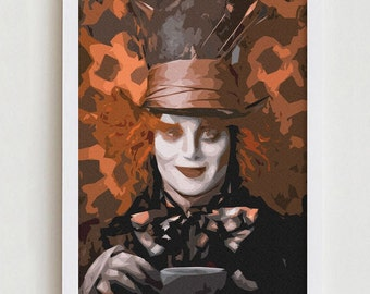 Mad Hatter print wall art home design