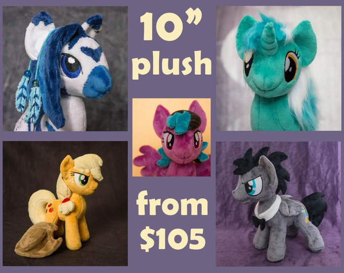 MLP:FIM Custom pony plush toy 9 inches tall - canon & OC