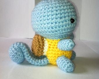 Squirtle, Pokemon Squirtle, Crochet Pokemon, Handmade Squirtle, Soft Toy, Amigurumi, Water Pokemon, Gift,  Present, Toy, Birthday Gift